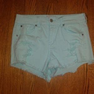Altar'd State mint green cut off shorts 28